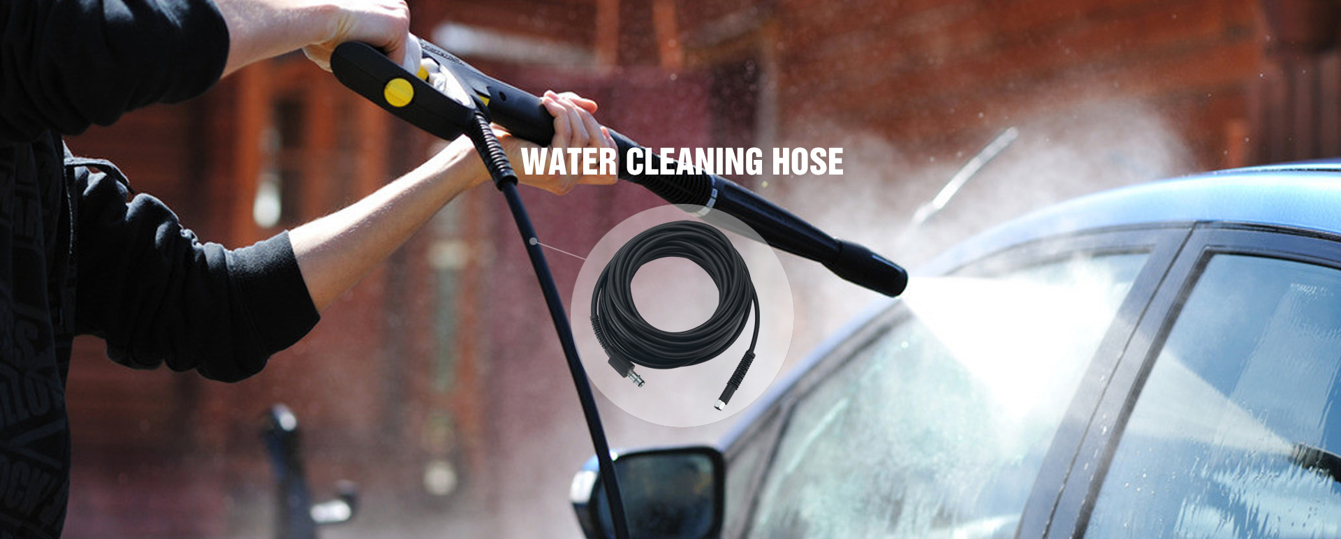 Water cleaning hose